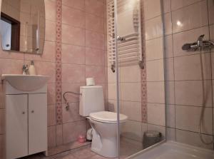 A bathroom at Noclegi Alda