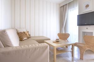 A seating area at Luxury Apartments Villa Luce
