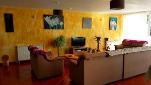 Zona de estar de Solar dos Marcos Rural Accommodation