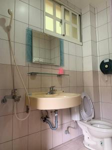 A bathroom at 三義包棟民宿柏竺山莊Bozhu villa