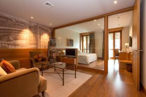 A seating area at Gran Hotel La Perla