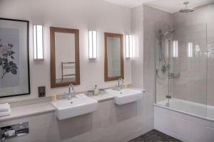 A bathroom at De Vere Cranage Estate