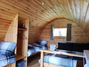 A seating area at Craskie Glamping Pods