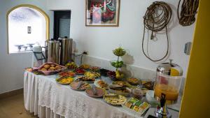 Breakfast options available to guests at Hostal La Magia de Uyuni