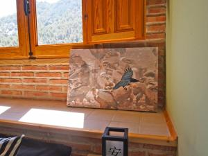 A seating area at Observatorio de Aves Mas de Bunyol
