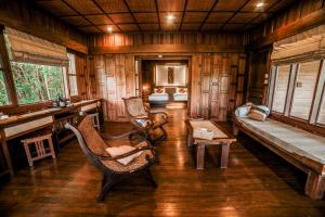 A seating area at Inle Resort