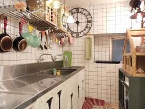 染物と宿の中島屋 - 女性専用にあるキッチンまたは簡易キッチン