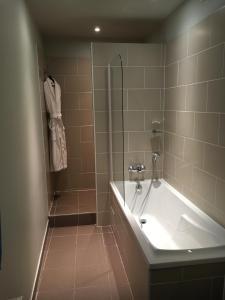 A bathroom at Hotel Normandy