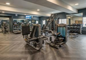 The fitness center and/or fitness facilities at Four Points by Sheraton Anchorage Downtown