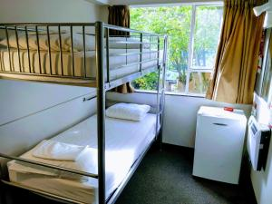A bunk bed or bunk beds in a room at YMCA Hostel