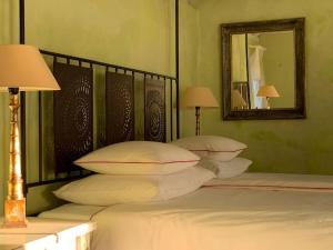 A bed or beds in a room at Sea View Villa Dvori Sv. Jurja