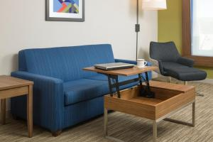 A seating area at Holiday Inn Express Hotel & Suites White River Junction