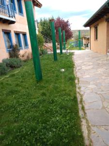 A garden outside Hostería Casa Flor