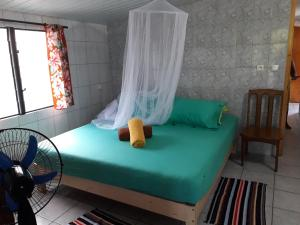A bed or beds in a room at Chez Taia et Véro