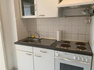 A kitchen or kitchenette at City Apartments Düsseldorf/Pempelfort