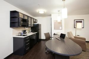 A kitchen or kitchenette at Candlewood Suites New Braunfels