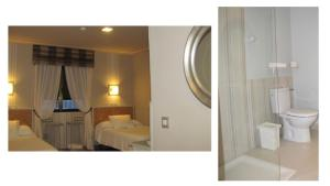 A bathroom at Hotel Migal