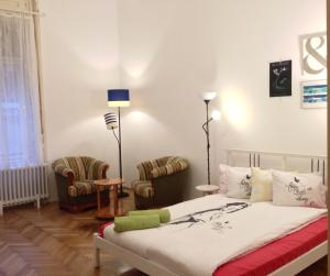 A bed or beds in a room at Gaia Hostel