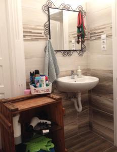 A bathroom at Gaia Hostel