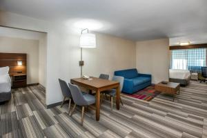 Гостиная зона в Holiday Inn Express & Suites Medicine Hat