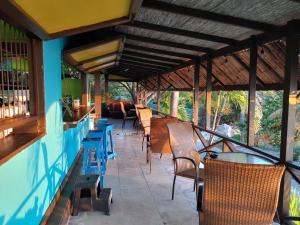 A restaurant or other place to eat at Orrie's Beach Bar and Hotel