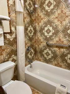 A bathroom at Green Tree Inn