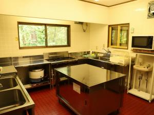 A kitchen or kitchenette at Holiday Cottage Green Valley Hakuba