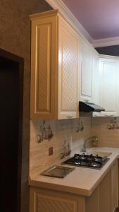 A cozinha ou cozinha compacta de Hasanovs Villa