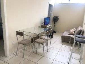Una televisión o centro de entretenimiento en Apartamento 2Q