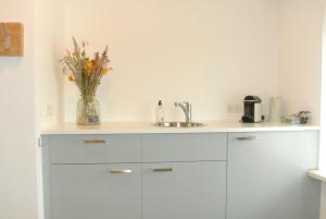 Een keuken of kitchenette bij Bed&Breakfast aan Strand