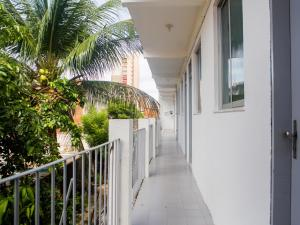 A balcony or terrace at Pousada Atlantico Centro - Fortaleza