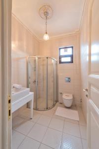 A bathroom at Enderun Hotel Istanbul