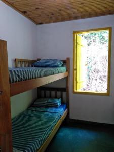 A bunk bed or bunk beds in a room at Chalés Iracambi, Mata Atlântica - Brazil