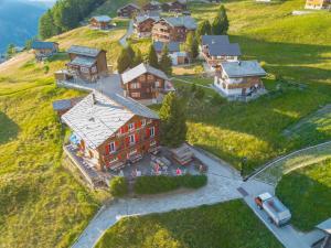 Blick auf Pension Alpenblick aus der Vogelperspektive