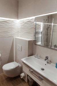 Koupelna v ubytování Villa Silvia