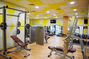 The fitness center and/or fitness facilities at TIME Ruby Hotel Apartment