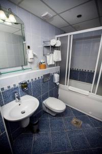 A bathroom at Hotel Srbija