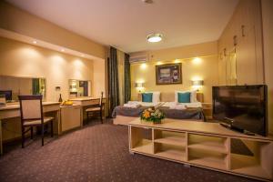 A seating area at Hotel Srbija