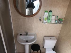A bathroom at Albergue Turístico Manuel