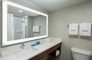A bathroom at Holiday Inn Express Nashville-Downtown Conference Center