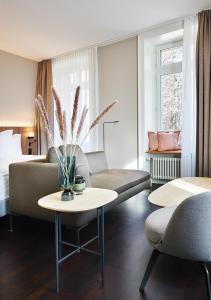 Ein Sitzbereich in der Unterkunft Sorell Hotel Zürichberg