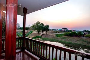 A balcony or terrace at บ้านหลังวัง