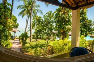 Ein Balkon oder eine Terrasse in der Unterkunft Hotel Marinas