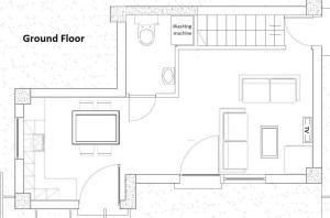 The floor plan of Seaview Villas