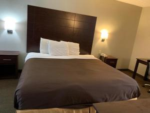 A bed or beds in a room at Governors Inn - Shelby