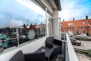 Een balkon of terras bij Beach House Zandvoort