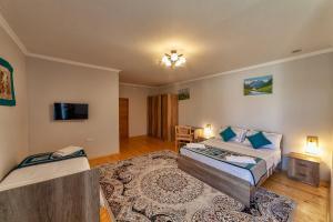 Кровать или кровати в номере TES Hotel