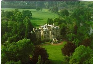 A bird's-eye view of Tillmouth Park Country House Hotel