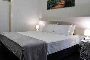A bed or beds in a room at Balonne River Motor Inn