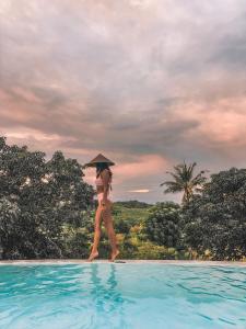 The swimming pool at or near Penida Bambu Green